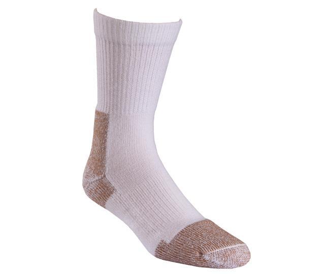 Носки рабочие 6510-2 STEEL TOE CREWНоски<br><br> Эти тонкие носки подарят тепло и комфорт в тяжелые рабочие будни. Специальная уплотненная конструкция обеспечивает амортизацию.<br><br><br>Уникальная система посадки URfit™<br>Усиления на носке и пятке для дополнительного комфорта и ...<br><br>Цвет: Белый<br>Размер: L