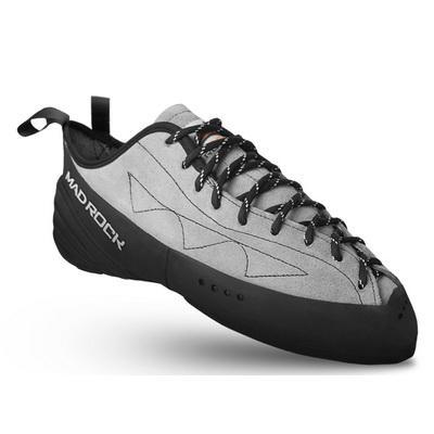 Скальные Mad Rock  туфли PHOENIXСкальные туфли<br>Одна из самых продаваемых моделей с классической колодкой. <br><br> Более жесткая вставка Compressed Polyester в сочетании с резиной Scilence Friction 3.0 дает р...<br><br>Цвет: Серый<br>Размер: 8