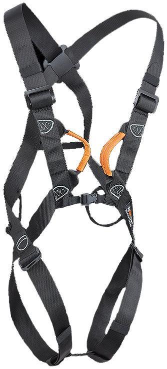 Обвязки спортивные SellaОбвязки, беседки<br>Полная обвязка, сконструированная специально для Via Ferrata, а также для начинающих.<br><br>2 петли для снаряжения (грузоподъемность 5 кг)<br>2 быстро застегивающиеся пряжки на ремнях для ног<br>        Цвет: Black<br>      ...<br><br>Цвет: Черный<br>Размер: None