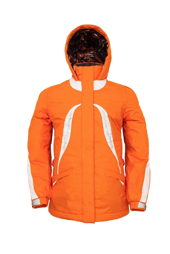 Куртка утеплённая Plumelet II детскаяКуртки<br><br><br>Цвет: Оранжевый<br>Размер: 152
