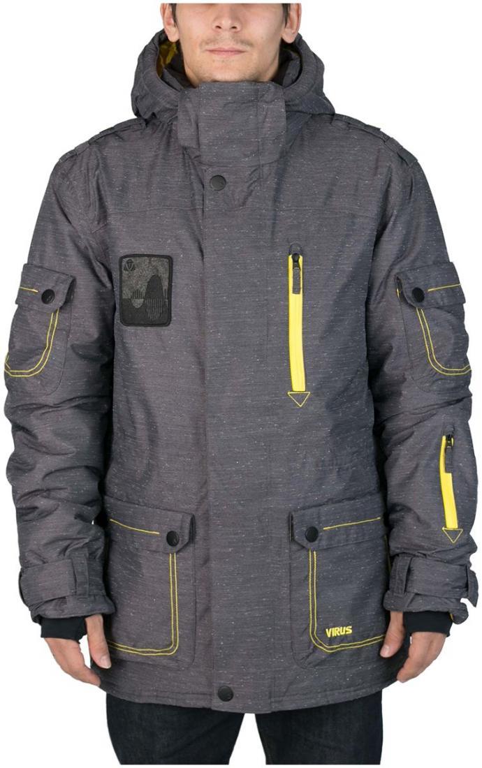 Куртка Virus  утепленная Hornet (osa)Куртки<br><br> Многофункциональная мужская куртка-парка для города и склона. Специальная система карманов «анти-снег». Удлиненный силуэт и шлица на л...<br><br>Цвет: Темно-серый<br>Размер: 44