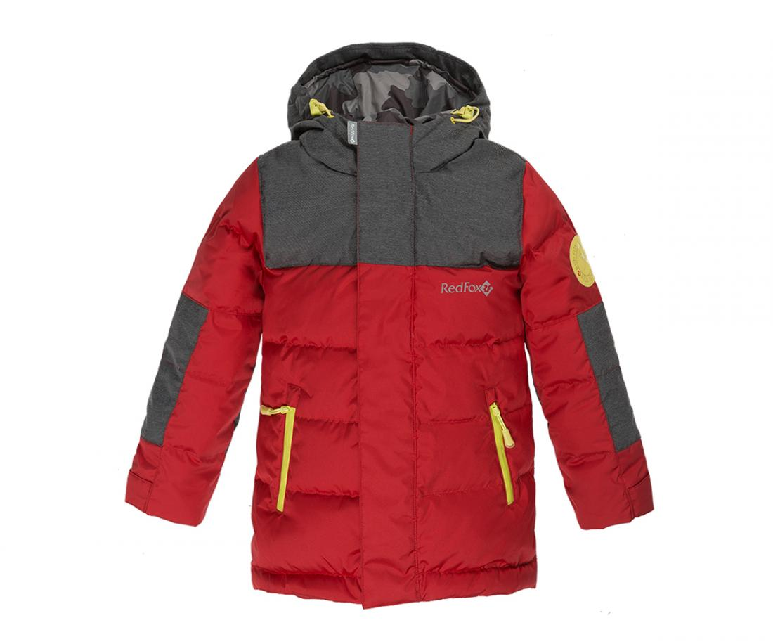 Куртка пуховая Climb ДетскаяКуртки<br>Пуховая куртка удлиненного силуэта c оригинальной отделкой. Анатомический крой обеспечивает полную свободу движений во время прогулок. Удобная регулировка по талии и низу куртки, а также: регулируемый в двух плоскостях капюшон, обеспечивают исключительное...<br><br>Цвет: Красный<br>Размер: 104