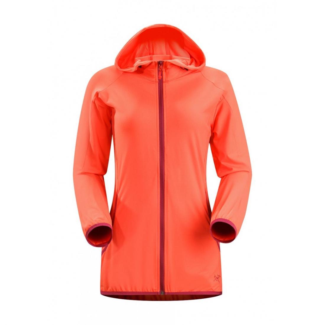 Куртка Soltera Hoody жен.Куртки<br>ХАРАКТЕРИСТИКА<br><br> Удобная куртка с капюшоном сделана из эластичного дышащего трикотажа с ворсованной изнаночной поверхностью, добавл...<br><br>Цвет: Красный<br>Размер: L