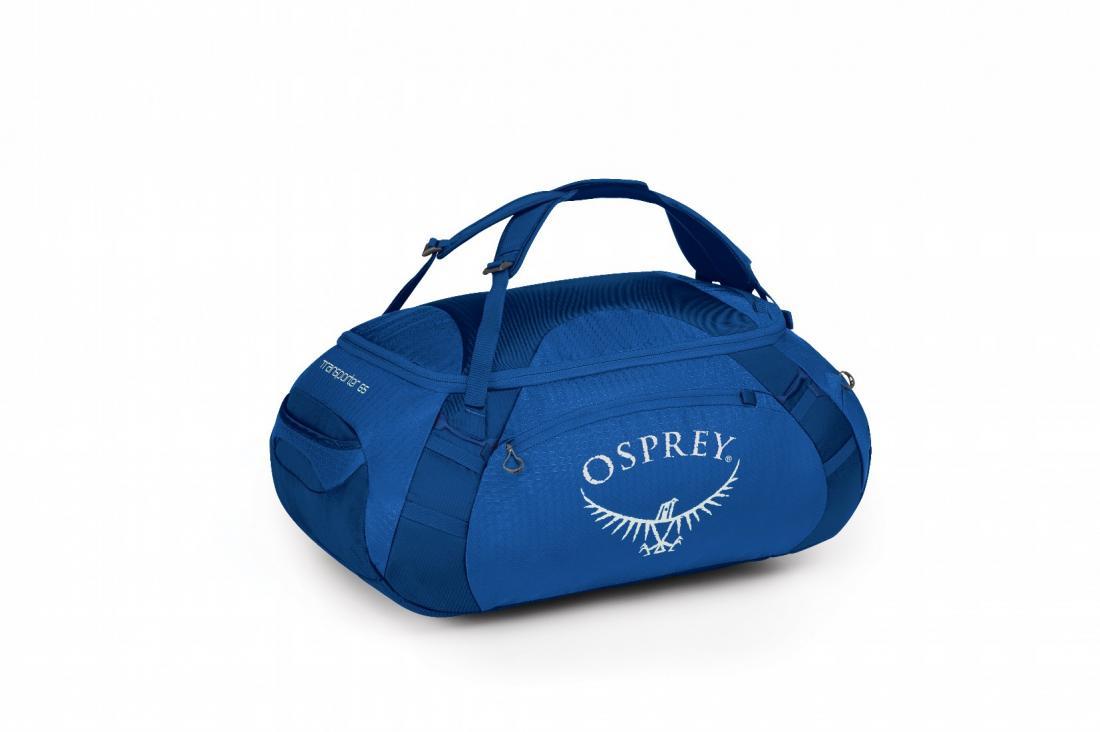 Сумка Transporter 65Сумки<br>Легкая сумка Transporter 65, превращающаяся в рюкзак, – идеальный компаньон для путешествий. Две ручки быстро и удобно трансформируются в лямки, позволяя переносить более тяжелый груз на длинные дистанции. Усиленное дно из прочного материала Nylon 900D...<br><br>Цвет: Синий<br>Размер: 65 л