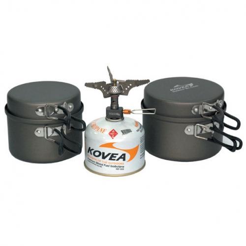Набор Kovea  посуды KSK-Solo 3 с горелкой KB-0707Посуда<br><br> Южно-корейская компания Kovea существует на рынке с 1982 г. Занимается производством и поставками газового оборудования и сопутствующих то...<br><br>Цвет: Темно-серый<br>Размер: None