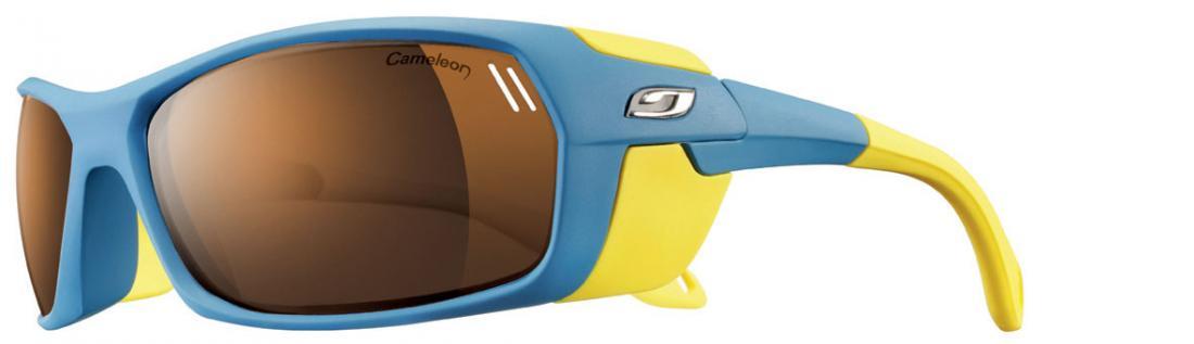 Очки Julbo  Bivouak 383Очки<br>Julbo Bivouak 383 – первые в мире очки с магнитными шторками для увеличения защиты от боковых лучей. Вы можете легко прикрепить эти шторки к оправе...<br><br>Цвет: Синий<br>Размер: None