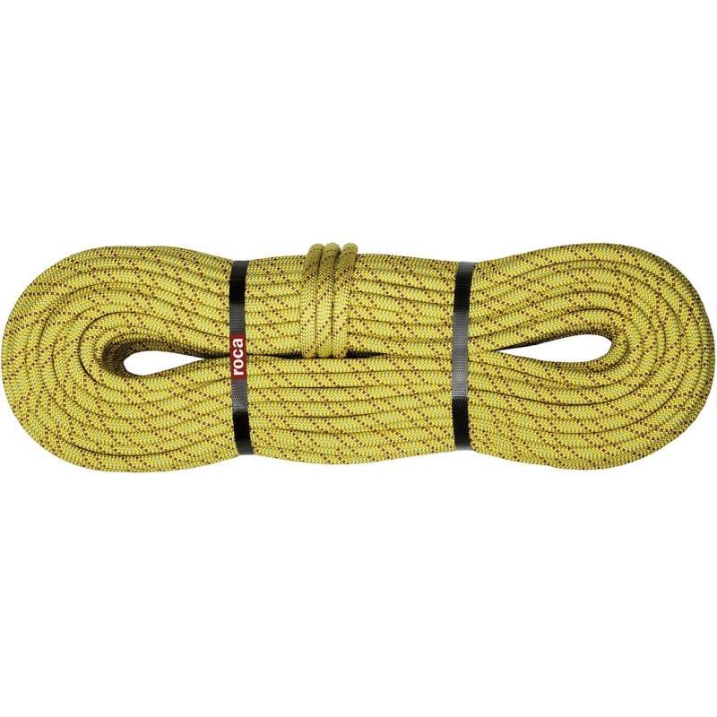 Веревка #113000 SHARK ROPEВеревки, стропы, репшнуры<br><br> Проста в обращении. Подходит для спортивных альпинистских маршрутов.<br><br><br><br><br>Диаметр: 9,8 mm<br>Тип веревки: одинарная <br>Длина: 50, 60, 70, 80 м.<br><br>Вес: 63 г/м<br>Усилие рывка: 8,3 кN&lt;/...<br><br>Цвет: Желтый<br>Размер: 70
