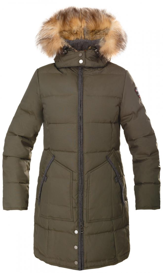 Куртка пуховая женская CHLOEКуртки<br><br><br>Цвет: Хаки<br>Размер: S