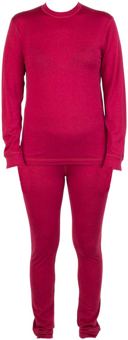 Термобелье костюм Wooly ДетскийКомплекты<br>Прекрасно согревая, шерстяной костюм абсолютно не сковывает движений и позволяет ребенку чувствовать себя комфортно, обеспечивая необходимое тепло.<br> <br><br>Материал –мериносовая шерсть.<br> <br>Плоские швы.<br>Пояс на рез...<br><br>Цвет: Темно-красный<br>Размер: 92