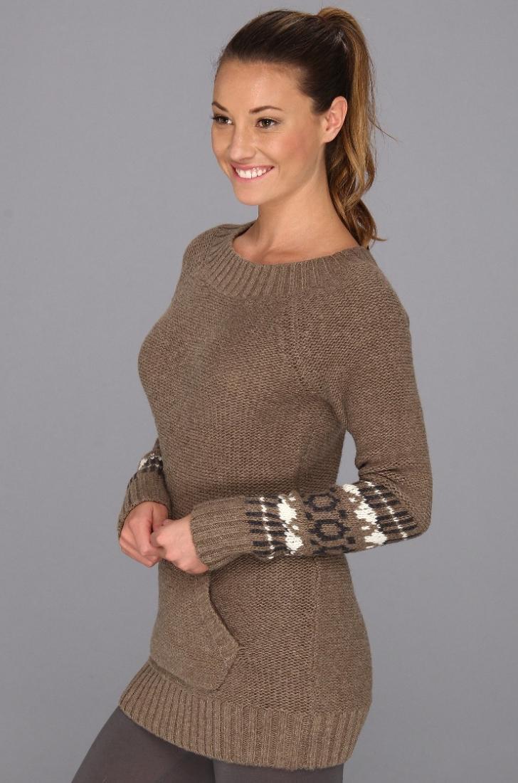 Топ LSW0842 JACKIE 2 TOPСвитеры<br><br> В стильном и уютном свитере Jackie 2 Top LSW0842 от Lole каждая девушка почувствует себя королевой на апре-ски отдыхе. Впрочем, эти женственные линии воротника, нарядные узоры на рукавах, объемная вязка будут выглядеть уместно и в городе. Большой к...<br><br>Цвет: Коричневый<br>Размер: M