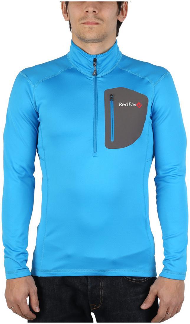 Пуловер Z-Dry МужскойПуловеры<br>Спортивный пуловер, выполненный из эластичного материала с высокими влагоотводящими характеристиками. Идеален в качестве зимнего термобелья или среднего утепляющего слоя.<br> <br><br>Материал: 94% Polyester, 6% Spandex, 290g/sqm.<br> <br>...<br><br>Цвет: Голубой<br>Размер: 56