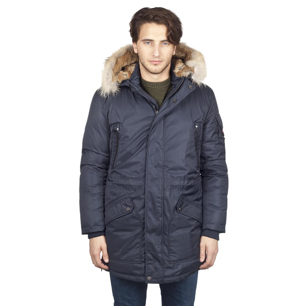 Куртка пуховая мужская WELLSПуховики<br>Мужская длинная пуховая парка WELLS, - прекрасная защита от ветра и холода в городе и во время загородных прогулок. Съемный капюшон с опушкой...<br><br>Цвет: Синий<br>Размер: L