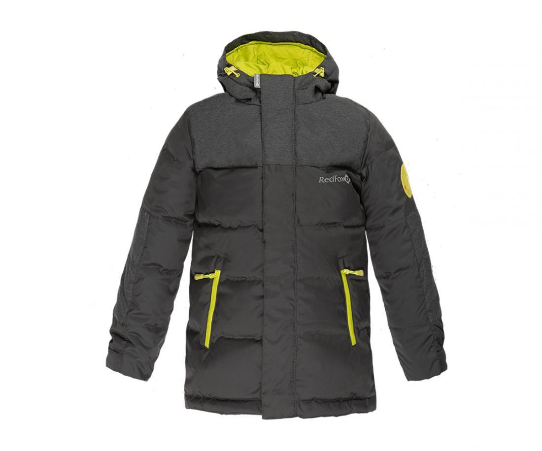 Куртка пуховая Climb ДетскаяКуртки<br>Пуховая куртка удлиненного силуэта c оригинальной отделкой. Анатомический крой обеспечивает полную свободу движений во время прогулок. Удобная регулировка по талии и низу куртки, а также: регулируемый в двух плоскостях капюшон, обеспечивают исключительное...<br><br>Цвет: Темно-серый<br>Размер: 110