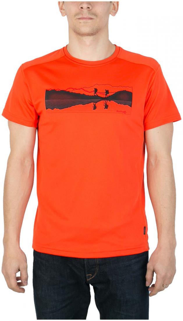 Футболка Breeze T МужскаяФутболки, поло<br><br> Мужская футболка «свободного» кроя с оригинальным аутдор принтом<br><br><br> Основные характеристики:<br><br><br>материал с высокими показателями воздухопроницаемости<br>обработка материала, защищающая от ультрафиолетовых лучей...<br><br>Цвет: Оранжевый<br>Размер: 58