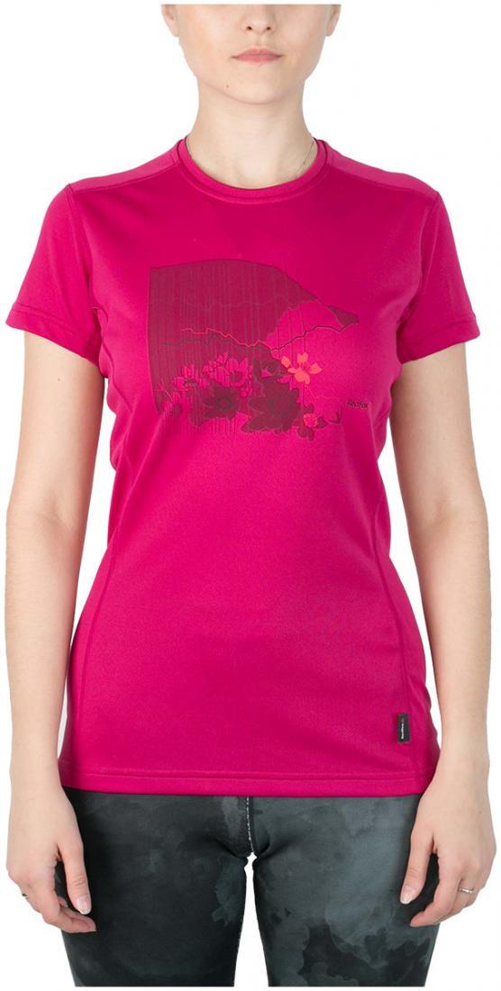 Футболка Red Rocks T ЖенскаяФутболки, поло<br><br> Женская футболка «свободного» кроя с оригинальным принтом.<br><br> Основные характеристики:<br><br>материал с высокими показателями воздухопроницаемости<br>обработка материала, защищающая от ультрафиолетовых лучей<br>обрабо...<br><br>Цвет: Розовый<br>Размер: 44