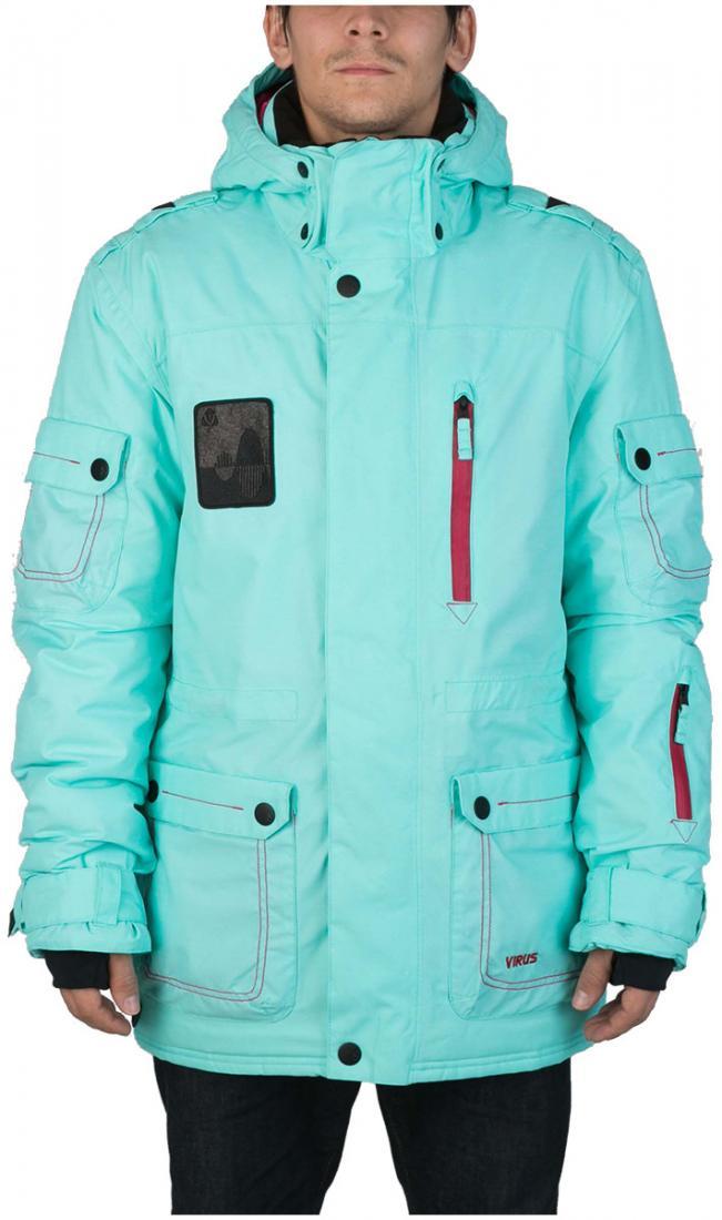 Куртка Virus  утепленная Hornet (osa)Куртки<br><br> Многофункциональная мужская куртка-парка для города и склона. Специальная система карманов «анти-снег». Удлиненный силуэт и шлица на л...<br><br>Цвет: Бирюзовый<br>Размер: 54