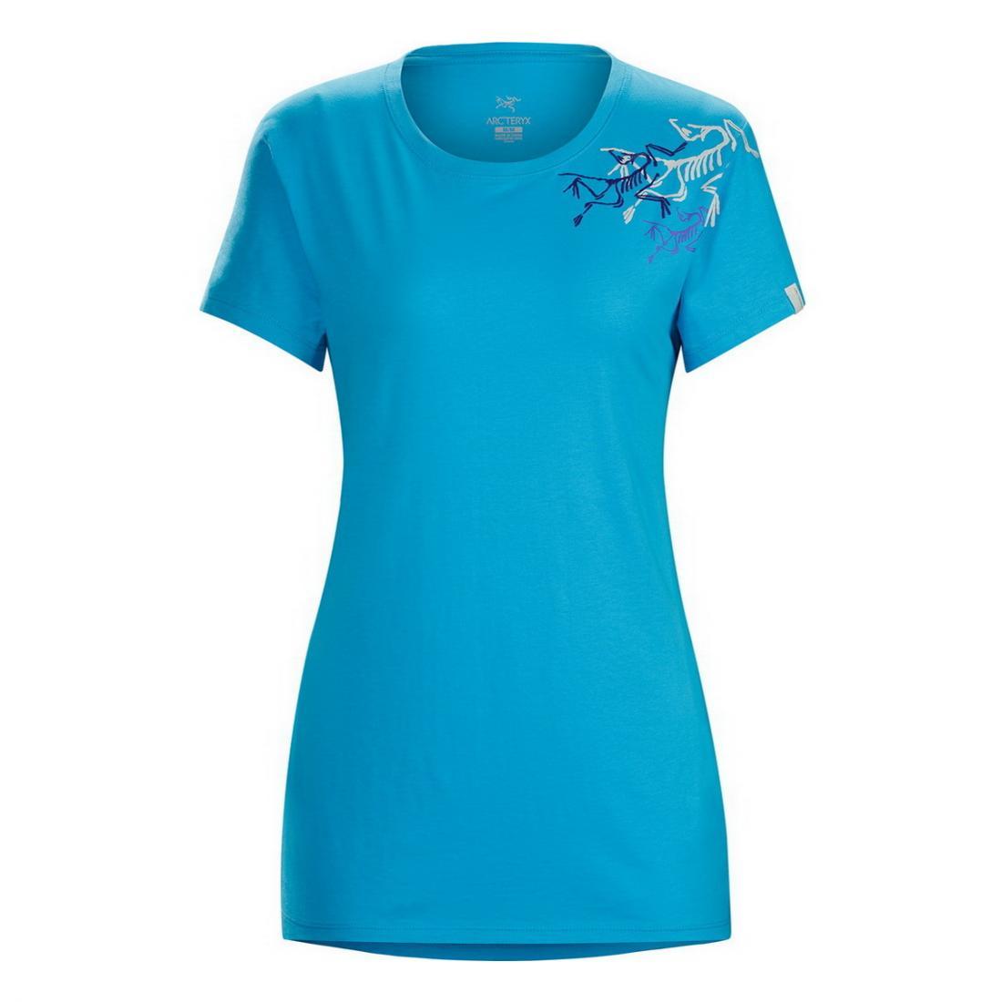 Футболка Bird Trio SS T-Shirt жен.Футболки, поло<br><br> Женская футболка Arcteryx Bird Trio с принтом, расположенным на плече и круглым вырезом изготовлена из натурального хлопка. Этот легкий, гигиен...<br><br>Цвет: Голубой<br>Размер: L