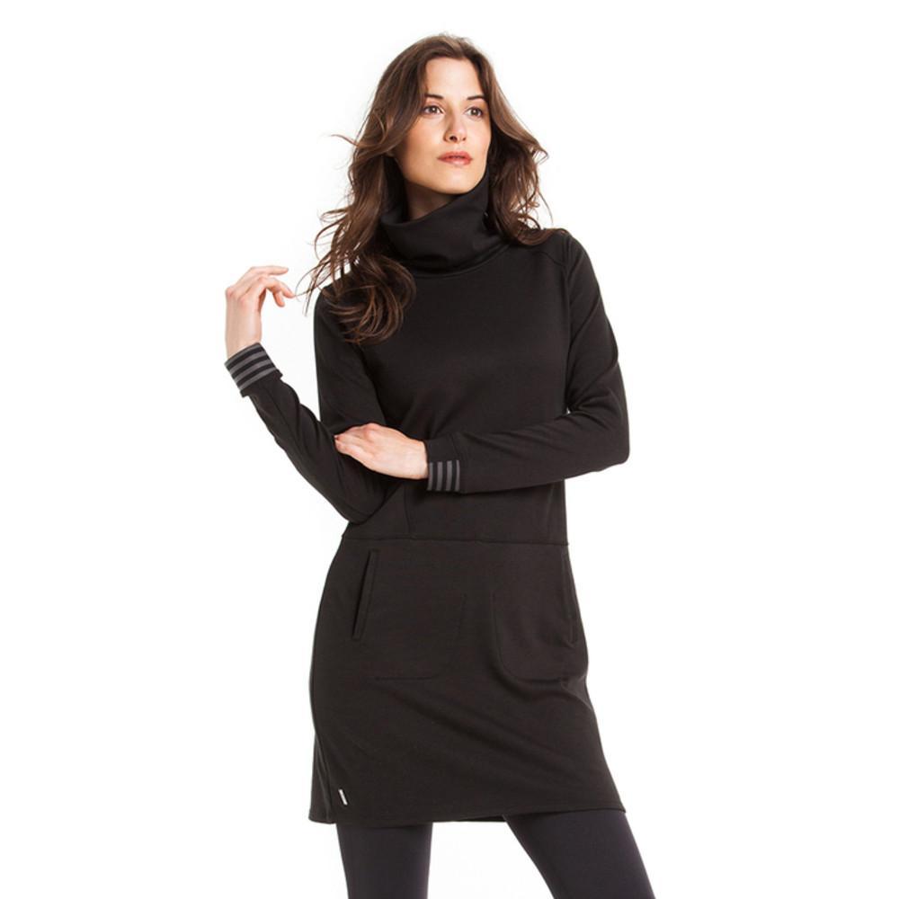 Платье LSW1513 TANGO DRESSПлатья<br>Платье с длинным рукавом из эластичной тканистрейч.<br><br>Воротник-черепахас застежкой-молнией на одной стороне<br>2 прорезных кармана спереди<br>На рукавах манжеты с резинкой<br>Длина 36 дюймов<br>Состав ткани:...<br><br>Цвет: Черный<br>Размер: XL