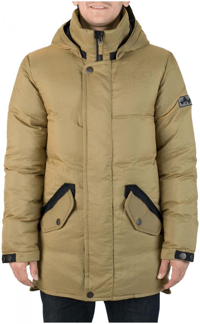 Куртка пуховая SandwichКуртки<br><br>Удлиненный мужской пуховик Sandwich создан специально для суровых российских зим. Утеплитель на основе из гусиного пуха, нетривиальные дет...<br><br>Цвет: Коричневый<br>Размер: 50