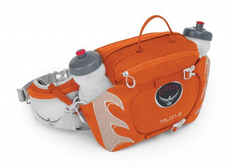 Сумка поясная Talon 6 c бутылкойСумки<br>Если бы одинокому страннику понадобилась поясная сумка, то он выбрал бы эту модель. 2 бутылки объемом 600 мл в специальных отделениях со стяжкой позволяют на ходу утолить жажду. Компрессионная система StraightJacket™ делает сумку более компактной, что ...<br><br>Цвет: Оранжевый<br>Размер: 6 л