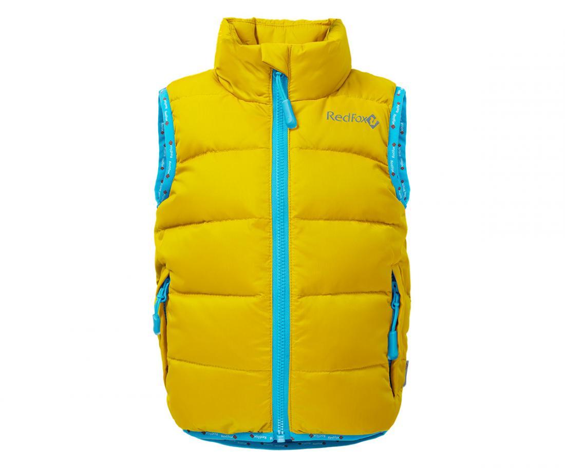 Жилет пуховый Everest BabyЖилеты<br>Легендарный пуховый жилет Red Fox. Все такой же теплый, легкий и комфортный. Но теперь и для детей от 2 до 7 лет.<br> <br><br><br><br> Материал – Nylon...<br><br>Цвет: Янтарный<br>Размер: 104