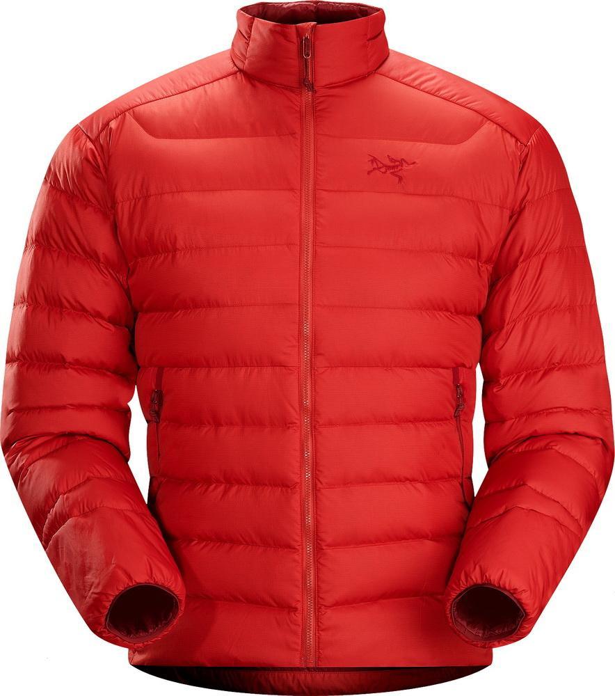 Куртка Thorium AR Jacket муж.Куртки<br><br> Мужская куртка Arcteryx Thorium AR Jacket станет идеальным вариантом для занятия спортом в прохладную погоду. Ее также можно надеть под пуховик или парку в морозы: благодаря небольшому весу эта модель идет как дополнительный слой одежды.<br><br>...<br><br>Цвет: Красный<br>Размер: S