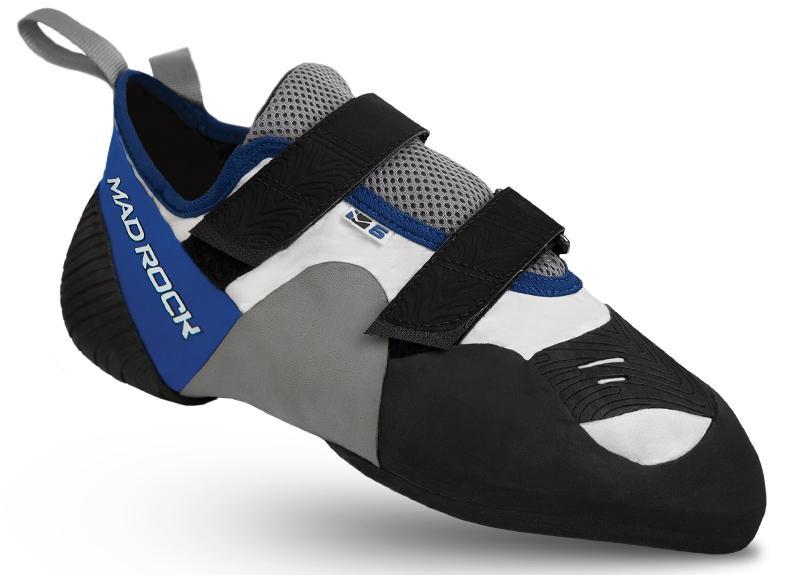 Скальные туфли M5Скальные туфли<br>Скальные туфли М5 — универсальные туфли для разных видов скалолазания. Вогнутая подошва и прорезиненный верх переднего отдела стопы создают более острую кромку для  стояния на маленьких опорах и облегчают зацепление.<br><br>петля на пятке для комфортного наде...<br><br>Цвет: Синий<br>Размер: 8.5