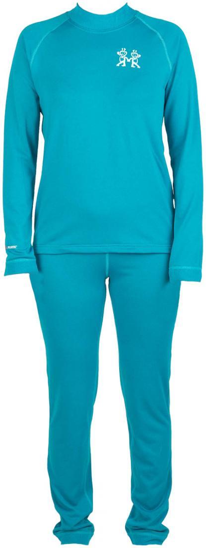Термобелье костюм Cosmos детскийКомплекты<br>Очень легкое, прочноеи комфортное термобелье для мальчиков и девочек от 2 до 12 лет. Лучший выбор для высокой активности при низких температурах.Плоские эластичные швы обеспечивают высокую прочность. Избыточная влага отводится с поверхности тела квнешн...<br><br>Цвет: Светло-синий<br>Размер: 152