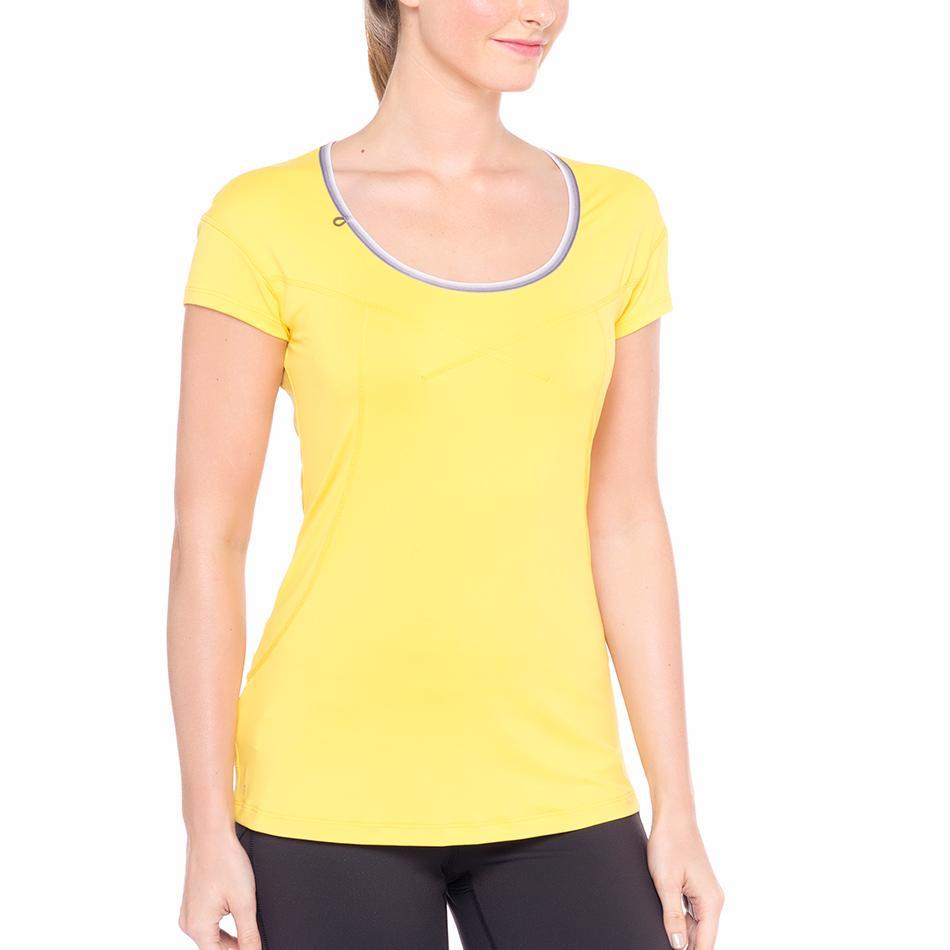 Футболка LSW1320 CARDIO T-SHIRTФутболки, поло<br><br> Lole Cardio T-Shirt это классическая однотонная женская футболка. В ней приятно и комфортно проводить фитнес-тренировки или заниматься бегом. Легкая и мягкая ткань быстро отводит влагу и позволя...<br><br>Цвет: Желтый<br>Размер: M