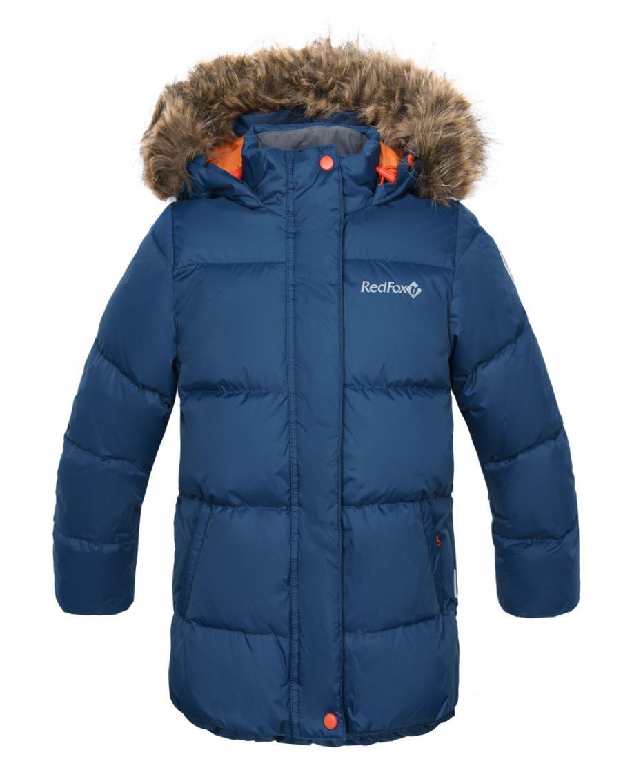 Куртка пуховая Nikki III ДетскаяКуртки<br><br> Пуховая куртка с оригинальной отделкой. Капюшон со съемной меховой опушкой и регулировкой по объему обеспечивает сохранение тепла и защиту от ветра. Два боковых кармана на молнии и защитные подманжеты на рукавах. Внутри резинка по поясу с регулиров...