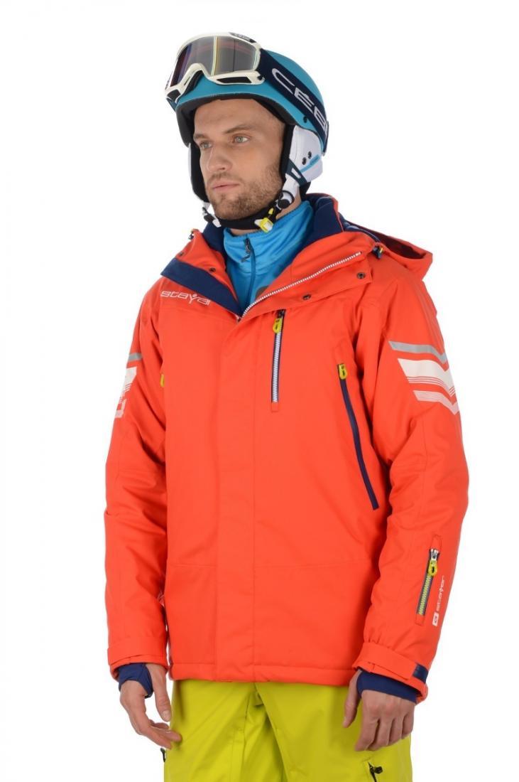 Куртка 42501 муж.Куртки<br>Удлиненная горнолыжная куртка с оптимальными показателями ветро-влагозащиты и паропроницаемости в сочетании с эластичными свойствами материала. Контрастные декоративные и светоотражающие элементы для обеспечения безопасности на склоне в темное время су...<br><br>Цвет: Красный<br>Размер: 54