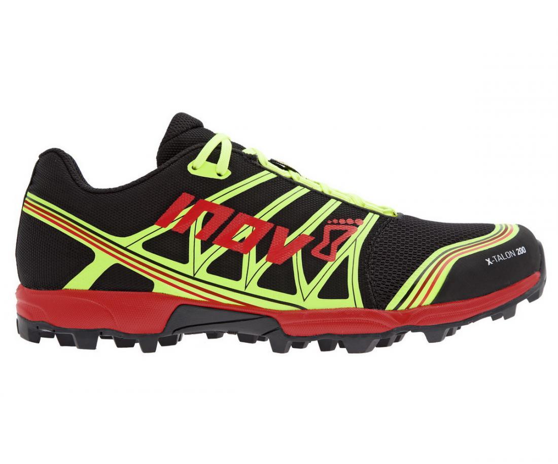 Inov-8 Кроссовки X-Talon 200 (8, Black/Red/Yellow, ,) inov 8 питьевая система 1l reservoir 1 л clear black