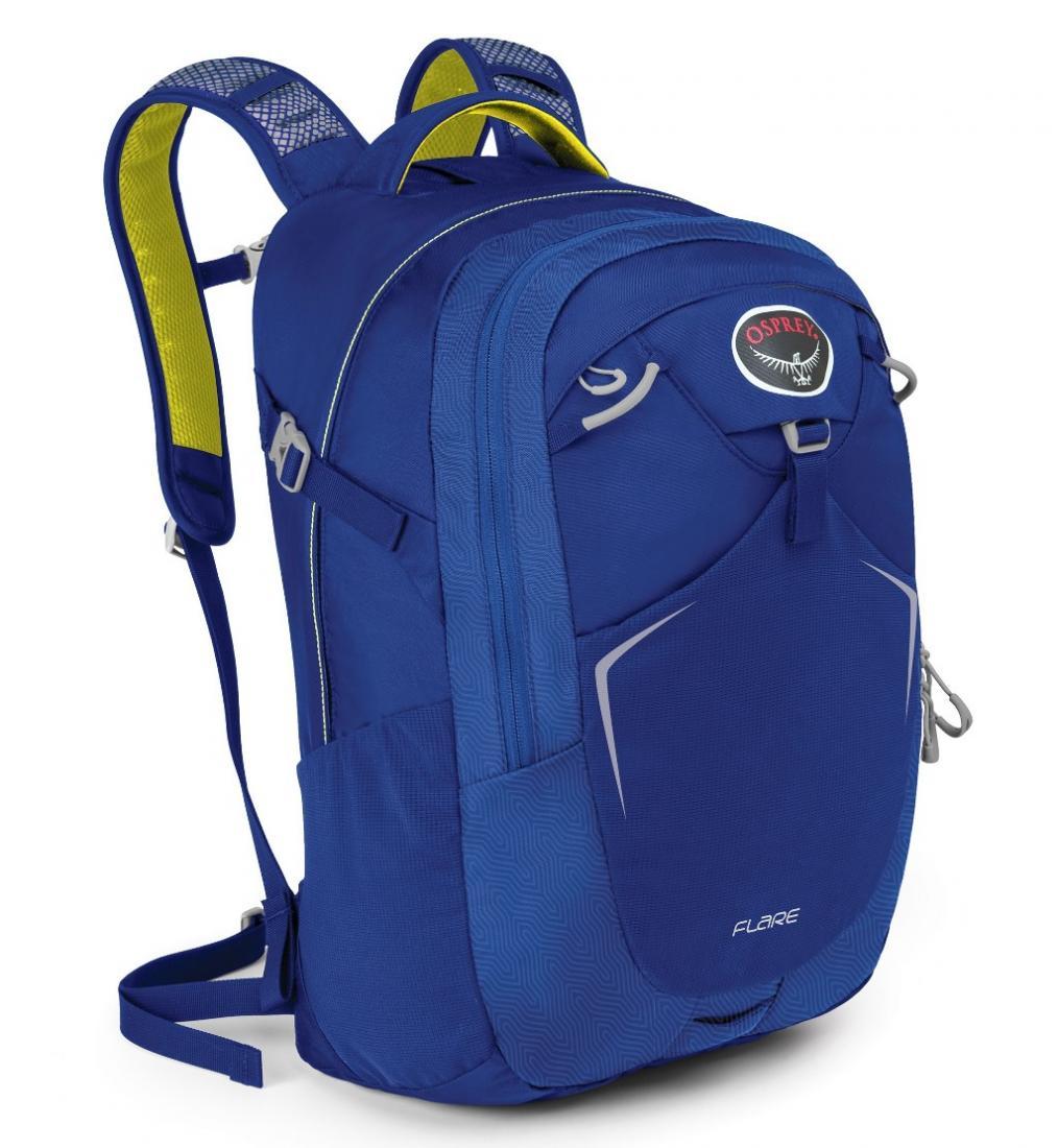 Рюкзак Flare 22Туристические, треккинговые<br><br> Как уместить все нужные в повседневной жизни вещи в одном месте? Легко, если у вас есть универсальный рюкзак Osprey Flare 22. Он вместительный, ...<br><br>Цвет: Синий<br>Размер: 22 л