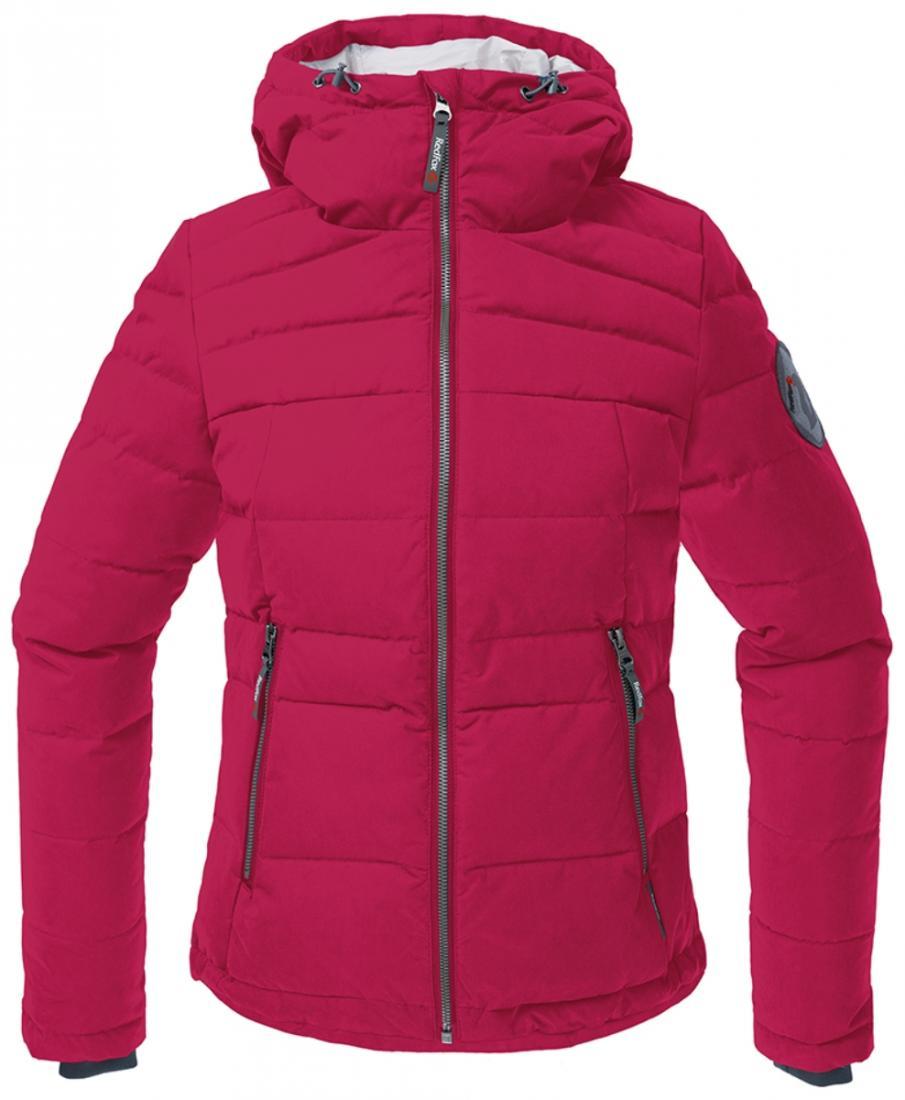 Куртка пуховая Kiana ЖенскаяКуртки<br><br> Пуховая куртка из прочного материала мягкой фактурыс «Peach» эффектом. стильный стеганый дизайн и функциональность деталей позволяют использовать модельв городских условиях и для отдыха за городом.<br><br><br> Основные характеристики<br><br>...<br><br>Цвет: Малиновый<br>Размер: 44