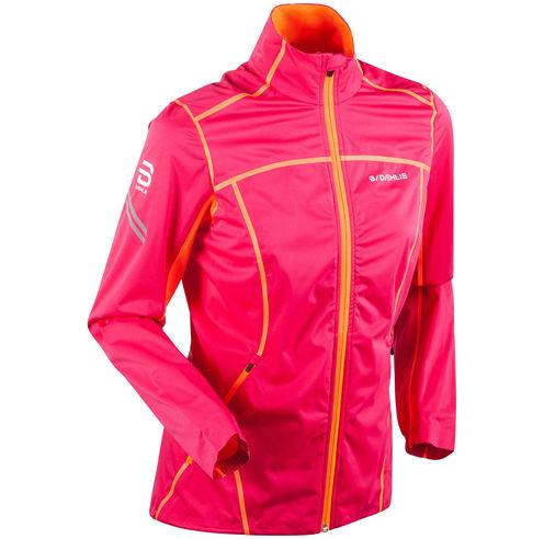 Куртка беговая Spectrum 3.0 жен.Куртки<br><br> Легкая женская куртка Bjorn Daehlie Spectrum 3.0 идеально подходит для тренировок или в качестве повседневной одежды. Эластичный материал, облегающий крой, вентиляционные вставки на спине и под мышками и ветронепроницаемое влагостойкое покрытие обе...