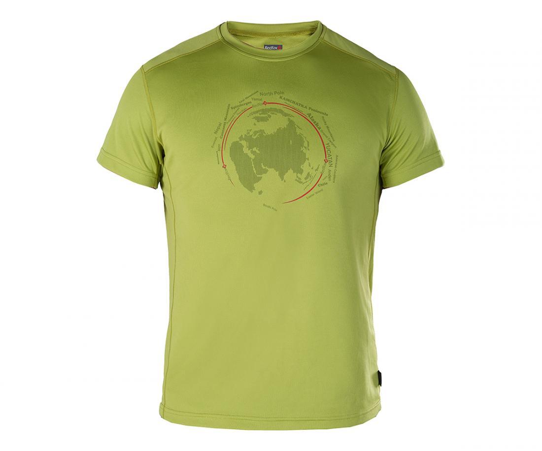 Футболка Globe МужскаяФутболки, поло<br>Мужская футболка «свободного» кроя с оригинальным аутдор принтом.<br><br>материал с высокими показателями воздухопроницаемости<br>&lt;li...<br><br>Цвет: Зеленый<br>Размер: 60