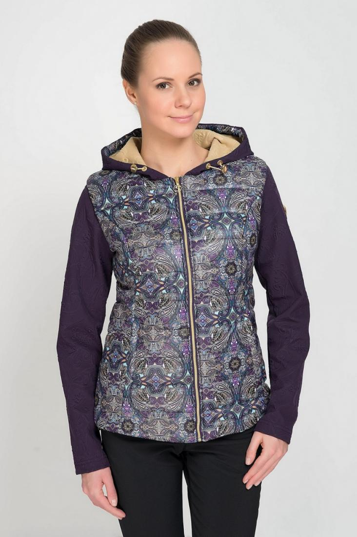 Куртка городская 424259 жен.Куртки<br>Куртка городская 424259 женская<br> Особенности: <br><br>Анатомический крой <br>Материалы верха Paisley Print (100% Polyester)/ 3D Soft Shell Embossed Print 100% Pol...<br><br>Цвет: Фиолетовый<br>Размер: 50