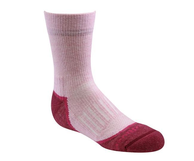 Носки детские 2952 Trail Jr.CrewНоски<br><br> Тонкие детские носки с идеальной посадкой. Благодаря уникальной системе переплетения волокон Wick Dry®, влага быстро испаряется с поверхн...<br><br>Цвет: Розовый<br>Размер: S