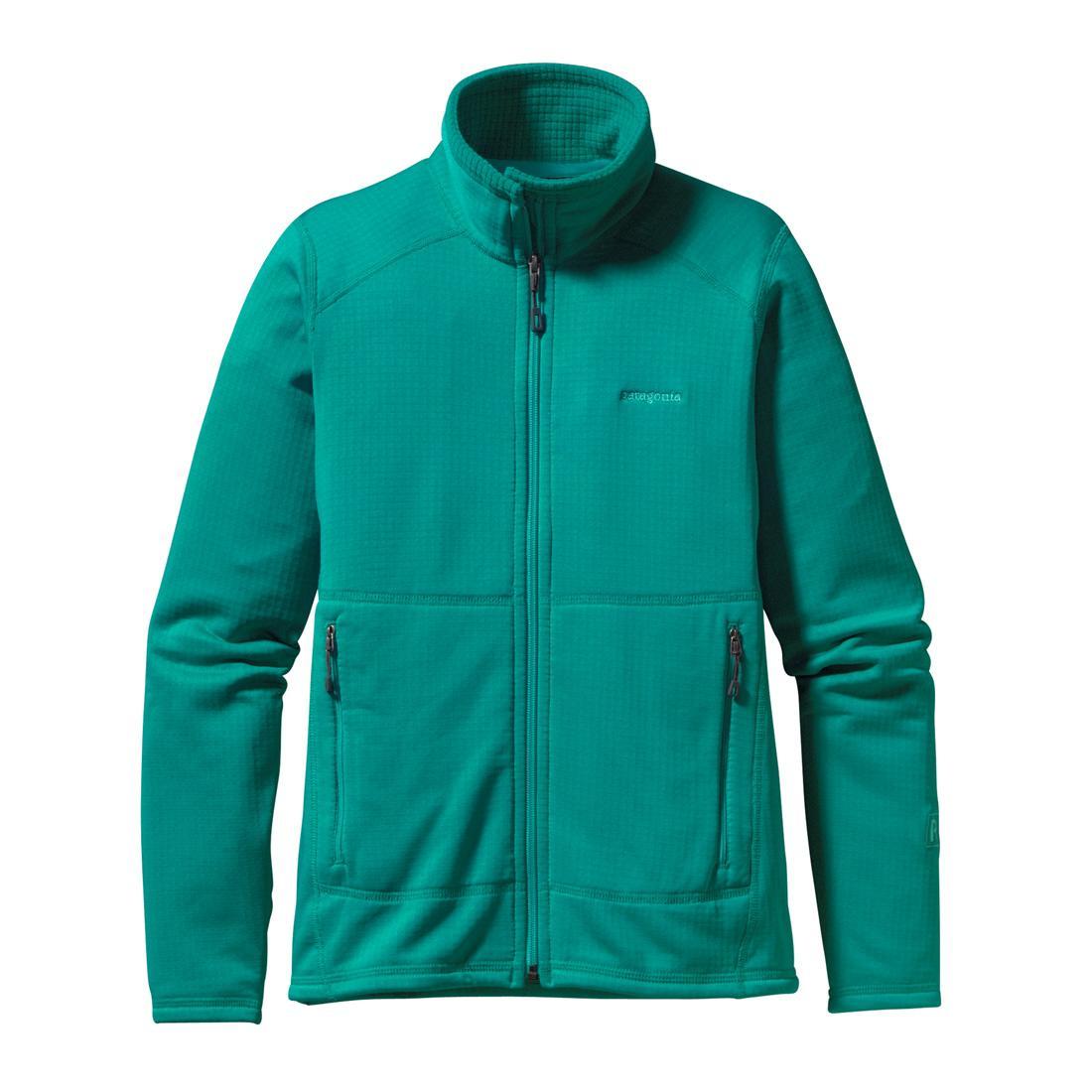 Куртка 40136 R1 FULL-ZIP жен.Куртки<br><br>Женская куртка Patagonia R1 FULL-ZIP изготовлена из мягкого и теплого флиса и может надеваться как отдельно, так и в качестве дополнительного уте...<br><br>Цвет: Цвет морской волны<br>Размер: M
