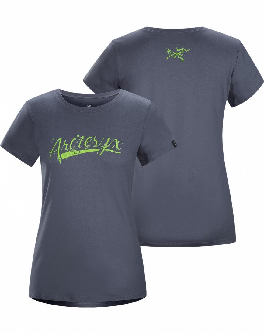 Футболка Script T-Shirt SS жен.Футболки, поло<br>ДИЗАЙН: Футболка из хлопка с короткими рукавами и с рисунком, нанесенным с помощью вытравной печати. Надпись оригинальным шрифтом на груд...<br><br>Цвет: Серый<br>Размер: S