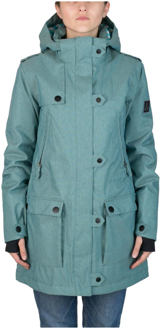 Куртка утепленная Prk WКуртки<br><br><br>Цвет: Бирюзовый<br>Размер: 44