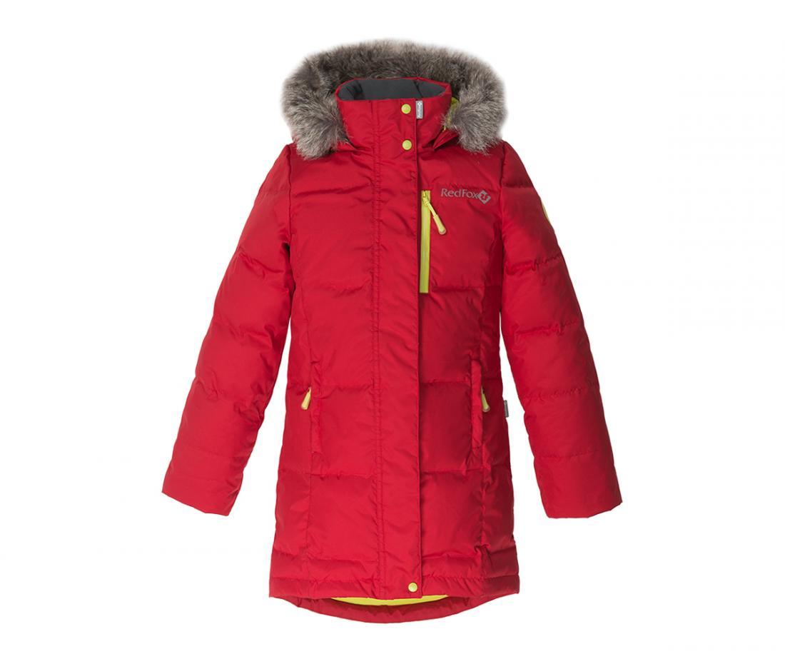 Пальто пуховое Jane II ДетскоеПальто<br><br><br>Цвет: Красный<br>Размер: 158