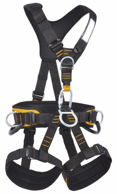Обвязки промальп Skill UniОбвязки, беседки<br>Полная обвязка для удержания при срыве. Подходит для промышленного альпинизма, подъемов, спусков и спасательных работ. Регулируемые пояс, ремни для ног и плечевые ремни с объемной набивкой. 2 петли для снаряжения. Легкие пряжки для быстрого, удобного о...<br><br>Цвет: Черный<br>Размер: L-XXL