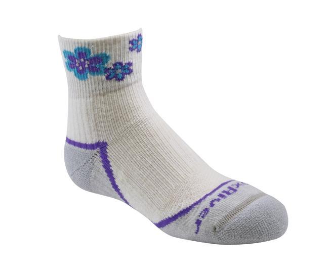 Носки детские 2953 Trail Jr.QTRНоски<br><br> Тонкие детские носки с идеальной посадкой. Благодаря уникальной системе переплетения волокон Wick Dry®, влага быстро испаряется с поверхности кожи, сохраняя ноги в комфорте.<br><br><br>Уникальная система посадки URfit™<br>Специальные...<br><br>Цвет: Белый<br>Размер: S