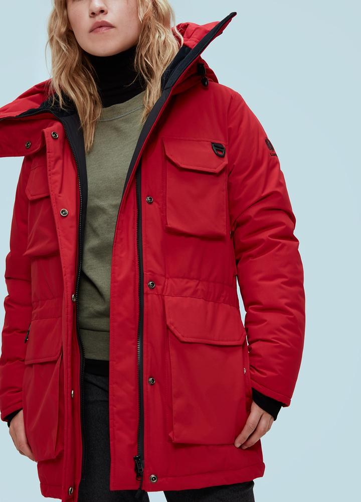 Kanuk Куртка женская Cavale F ThinDown 58F Finn raccoon (P\S, RED, , ,) цены онлайн