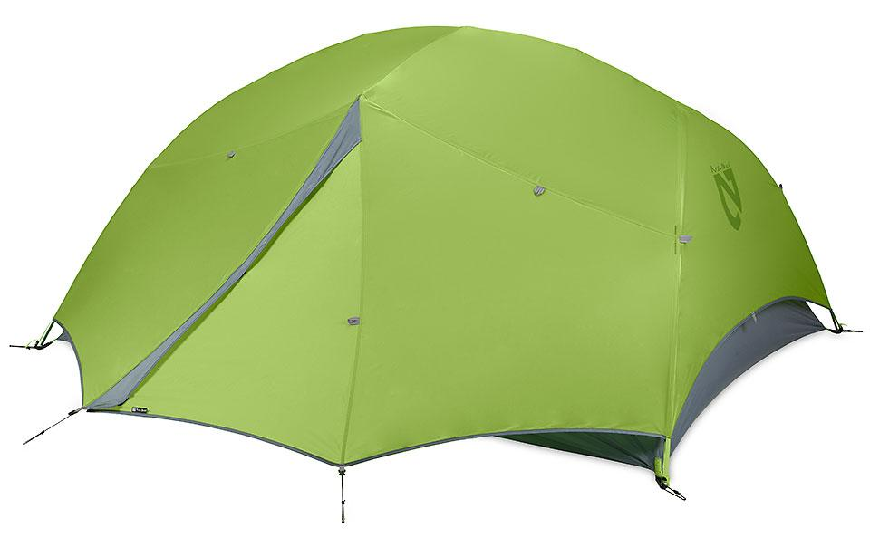 Палатка Dagger™ 3PТуристические, треккинговые<br>Компания Nemo предлагает вам легкую, но достаточно вместительную палатку, в которой легко переждать даже самый сильный дождь.<br><br>Вес: 1.93 кг.<br>Вместимость: 3 человека<br>Напольные размеры: 229 x 177 см<br>Площадь: 4...<br><br>Цвет: Зеленый<br>Размер: None