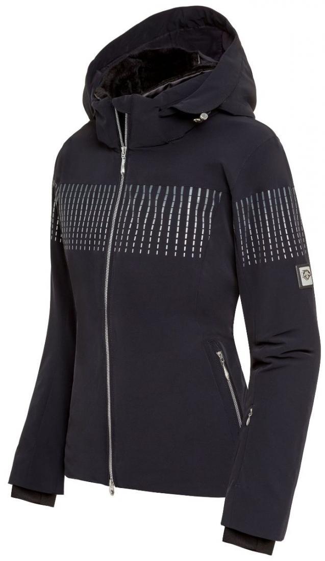 Куртка Reagon жен.Куртки<br>Техничная спортивная куртка удлиненного кроя, с набором технологичных деталей, в частности: вентиляция подмышками, снежная юбка и карман для ски-пасса на рукаве. Для увеличения свободы движения, Descente создала свои собственные техники 3D строения изд...<br><br>Цвет: Черный<br>Размер: 36