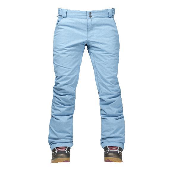 Штаны сноубордические утепленные Pure женскиеБрюки, штаны<br>Женские утепленные штаны, которые не увеличивают формы! За счет правильного кроя и удачной посадки сноубордические штаны Pure W сохраняют т...<br><br>Цвет: Голубой<br>Размер: 46