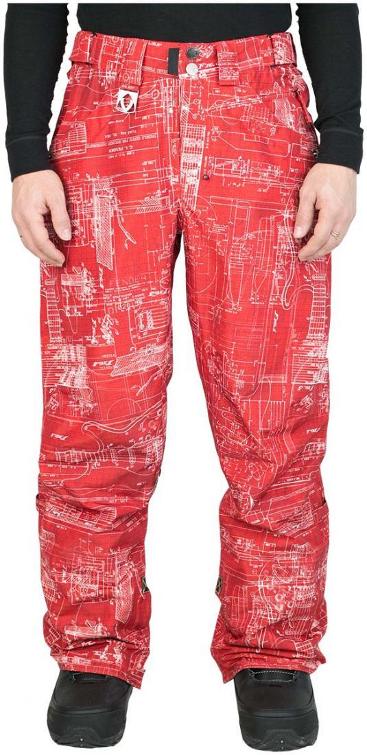 Штаны сноубордические SpreadБрюки, штаны<br><br><br>Цвет: Красный<br>Размер: 44