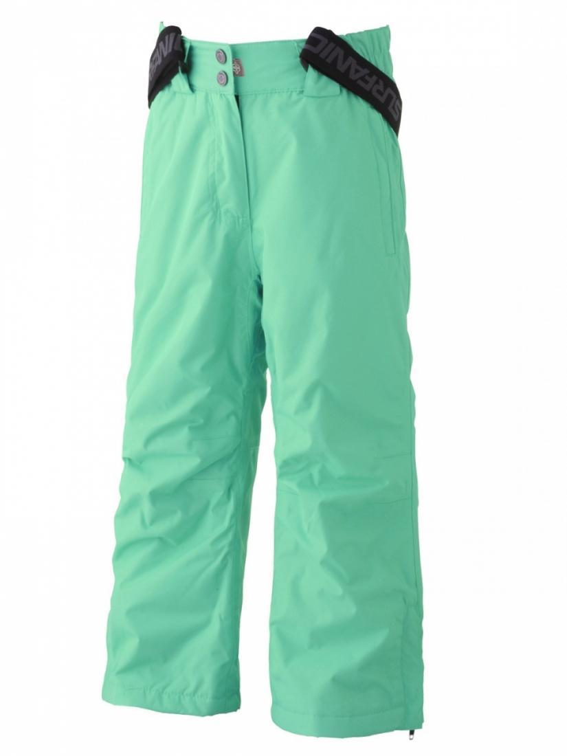 Брюки для девочки SWZ4100001 PIXIE 8KБрюки, штаны<br><br> Лыжные куртки и штаны - это сердце Surfanic! Рожденный от страсти к снегу и разработанный специально для гор, Surfanic стремится одеть вас в лучшее - без ущерба для бюджета. Добавив в линейку одежду для города, Surfanic уверяет - теперь у него есть...<br><br>Цвет: Бирюзовый<br>Размер: 104